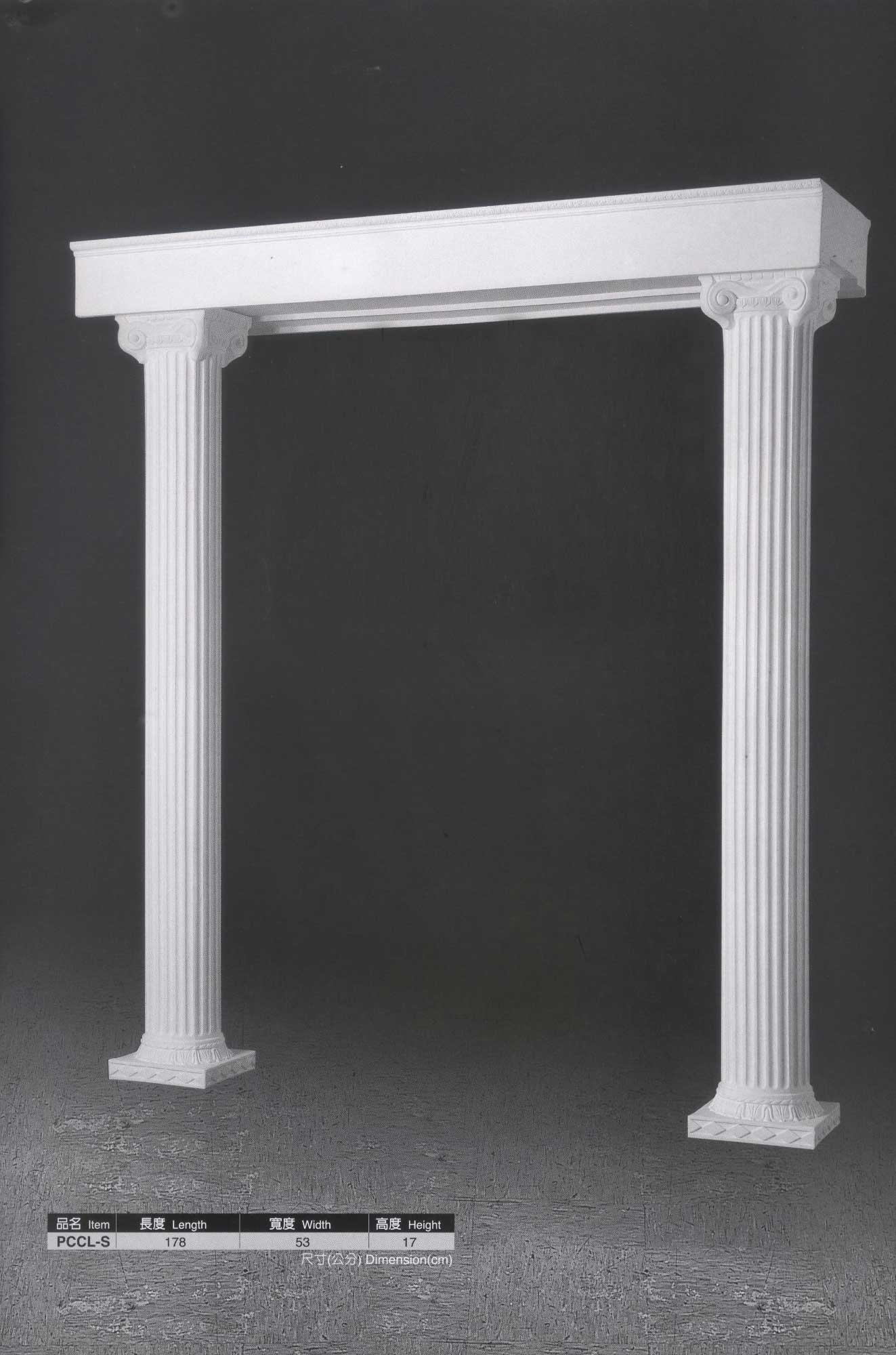 罗马门柱 塑仿大理石门柱 白色 大理石门柱 塑胶门柱 欧式门柱 直拱门